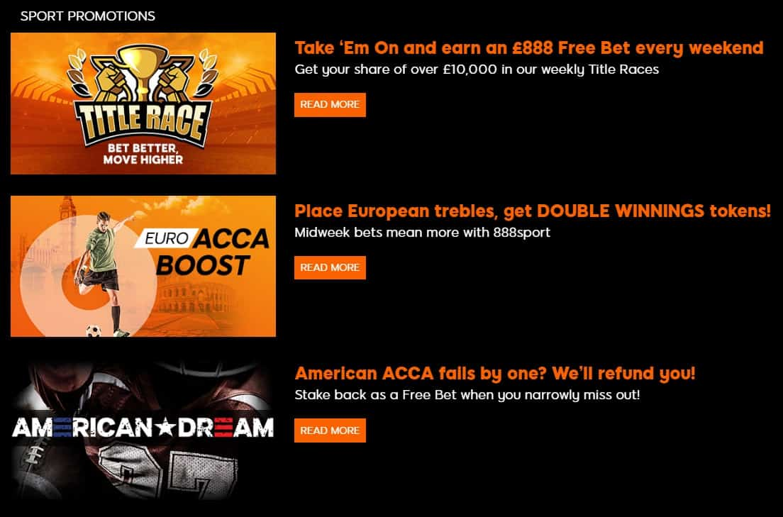 888sport Betting Offers and Promotions