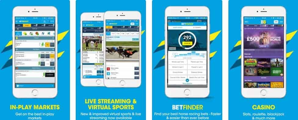 BetBright Betting App Scrrenshots taken from itunes