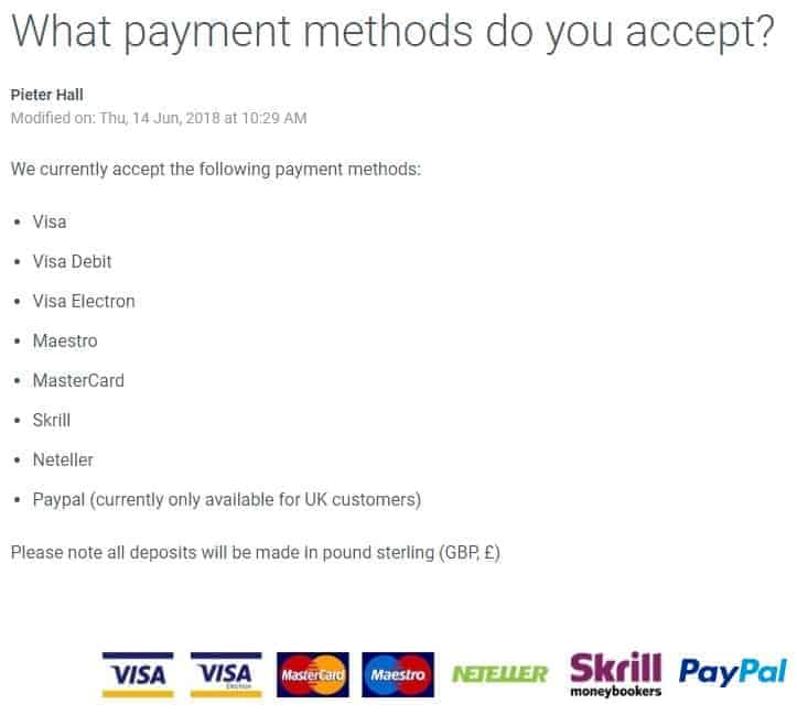BetBright Payment Methods and Banking Options