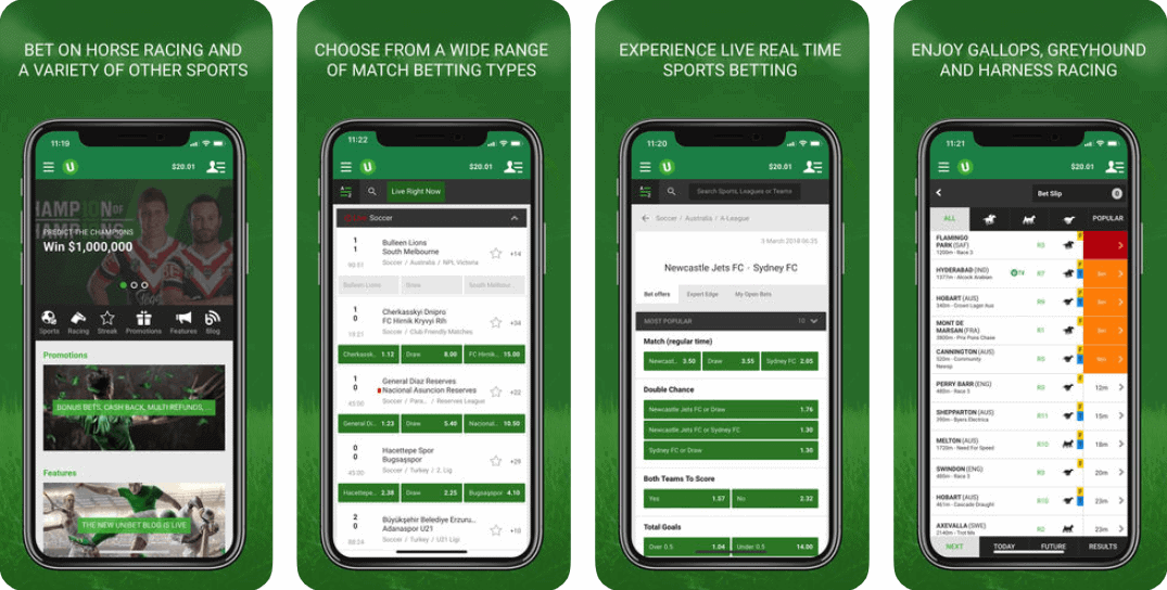 Unibet Sports App screenshots from itunes